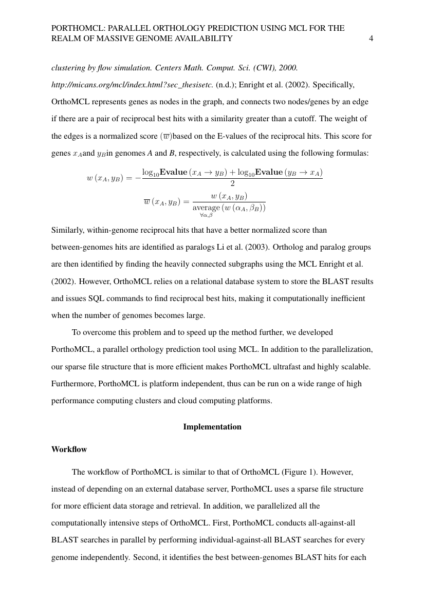 Example of Computational Biology (Assignment/Report) format