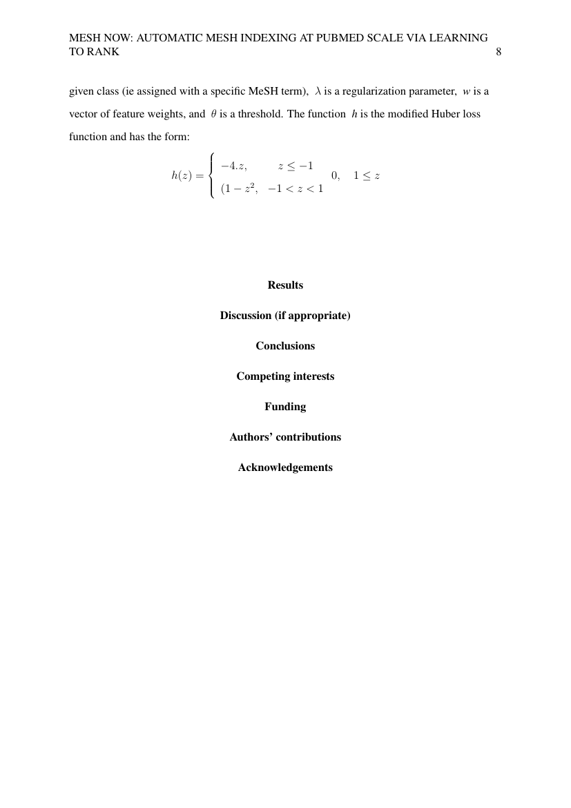 Example of Mathematics (MA76) (Assignment/Report) format