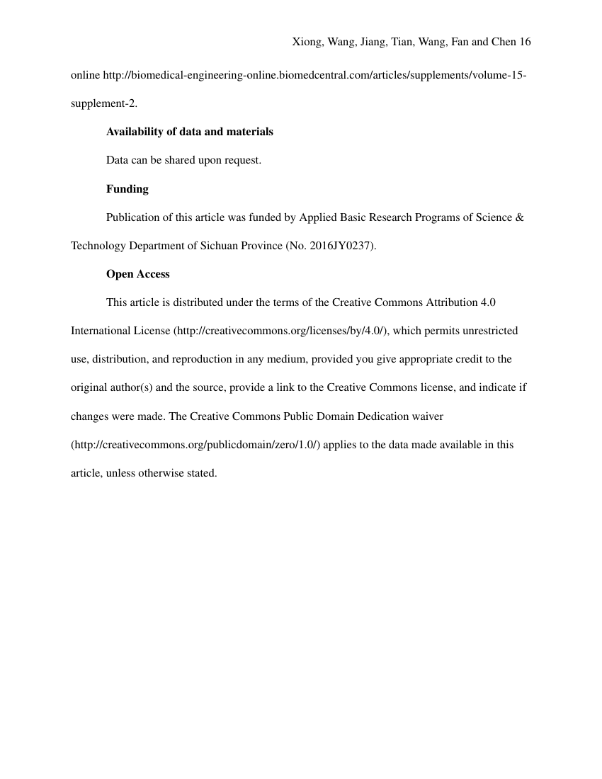 Example of Biological Sciences (Assignment/Report) format
