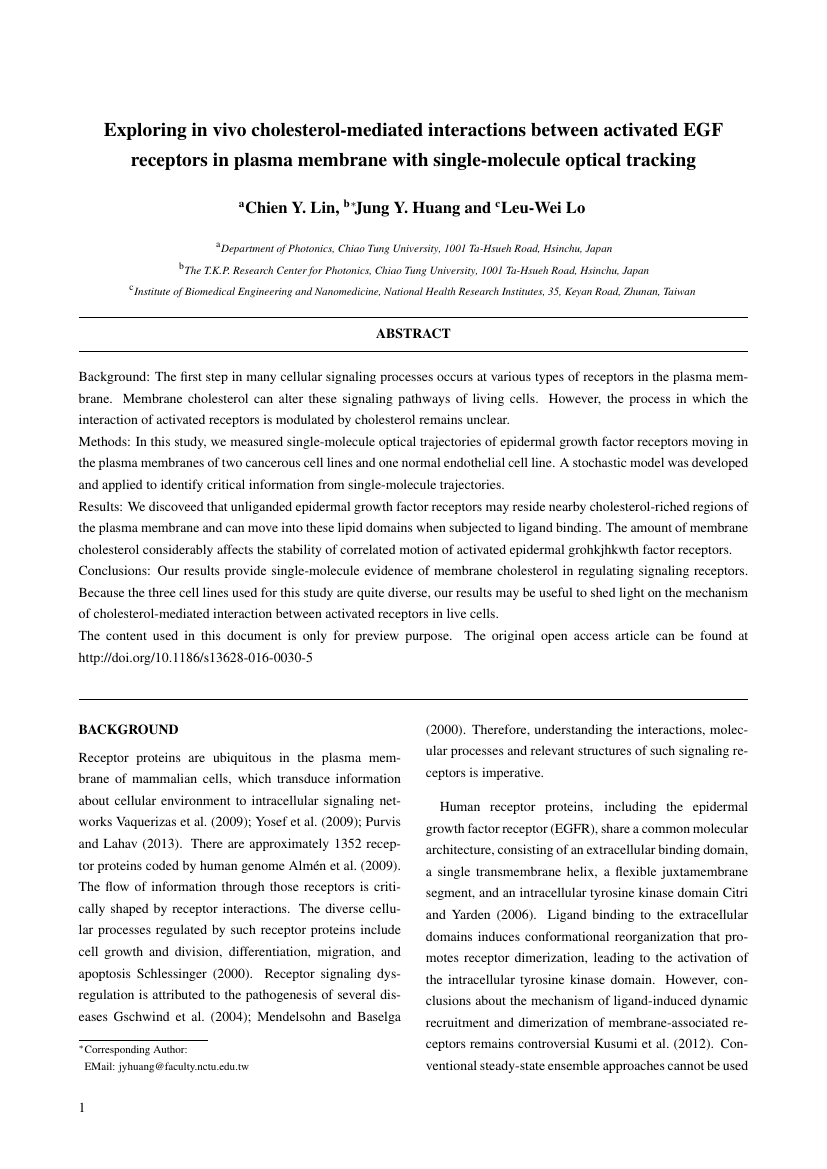 Example of Journal of Business and Finance format