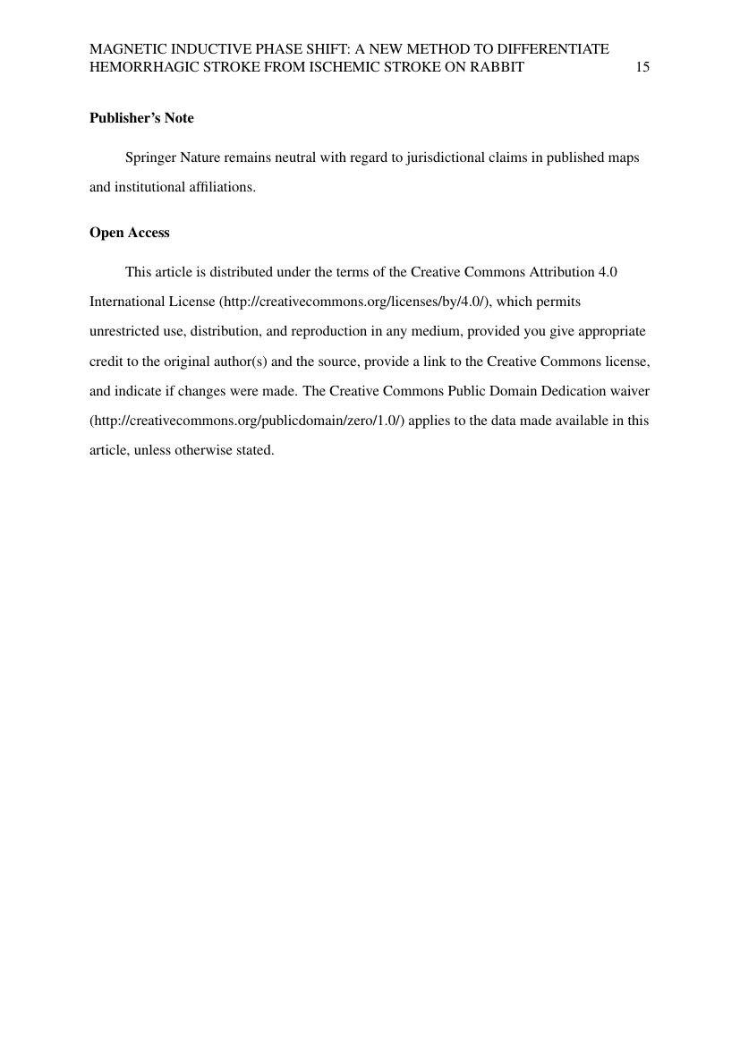 Example of Psychology - Thesis/Dissertation Template format