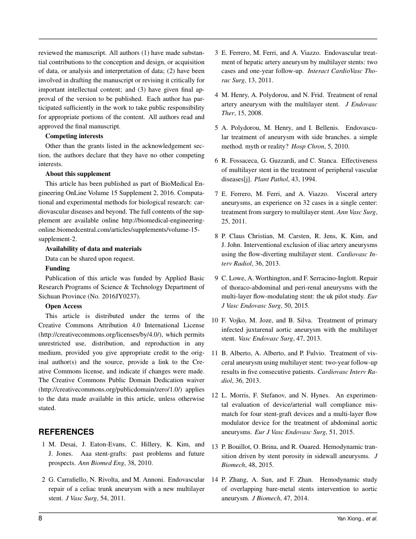 Example of Journal of Investigative Medicine format