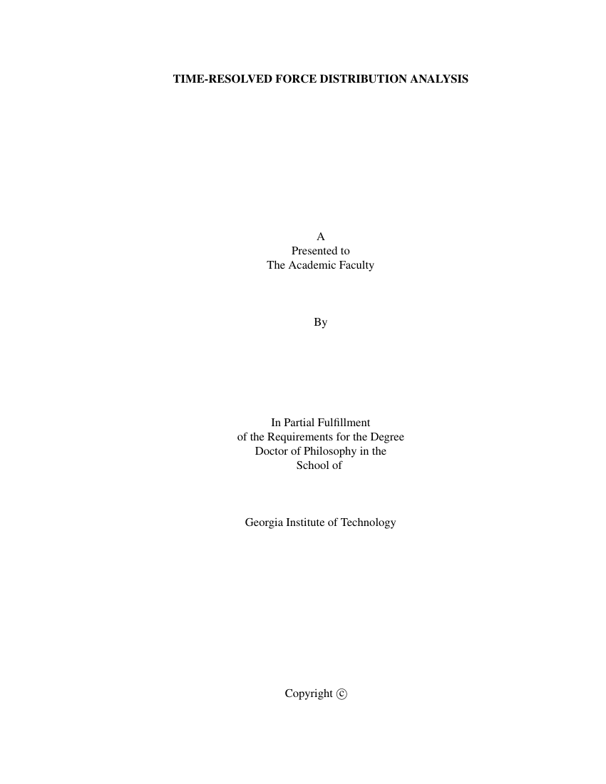 Example of Thesis Template for Georgia Institute of Technology format