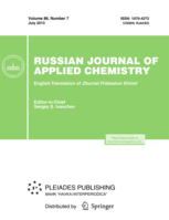Russian Journal of Applied Chemistry template (Springer)