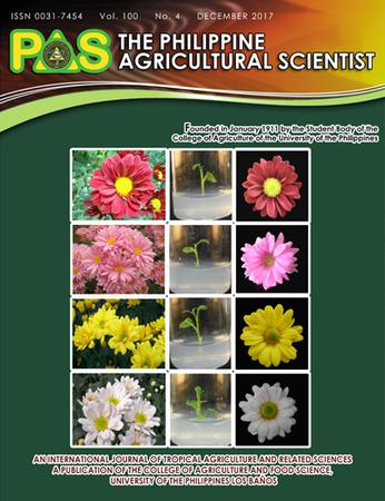 The Philippine Agricultural Scientist template (University of the Philippines Los Baos)