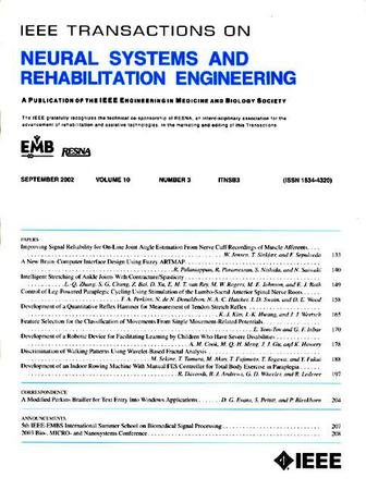 IEEE Transactions on Neural Systems and Rehabilitation Engineering template (IEEE)