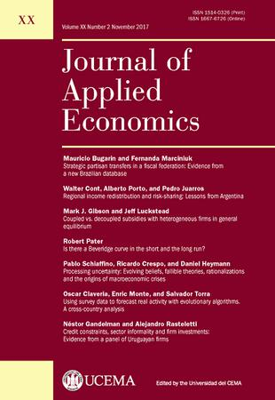 Journal of Applied Economics template (Elsevier)