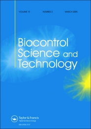 Biocontrol Science and Technology template (Taylor and Francis)