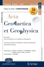 Acta Geodaetica et Geophysica template (Springer)