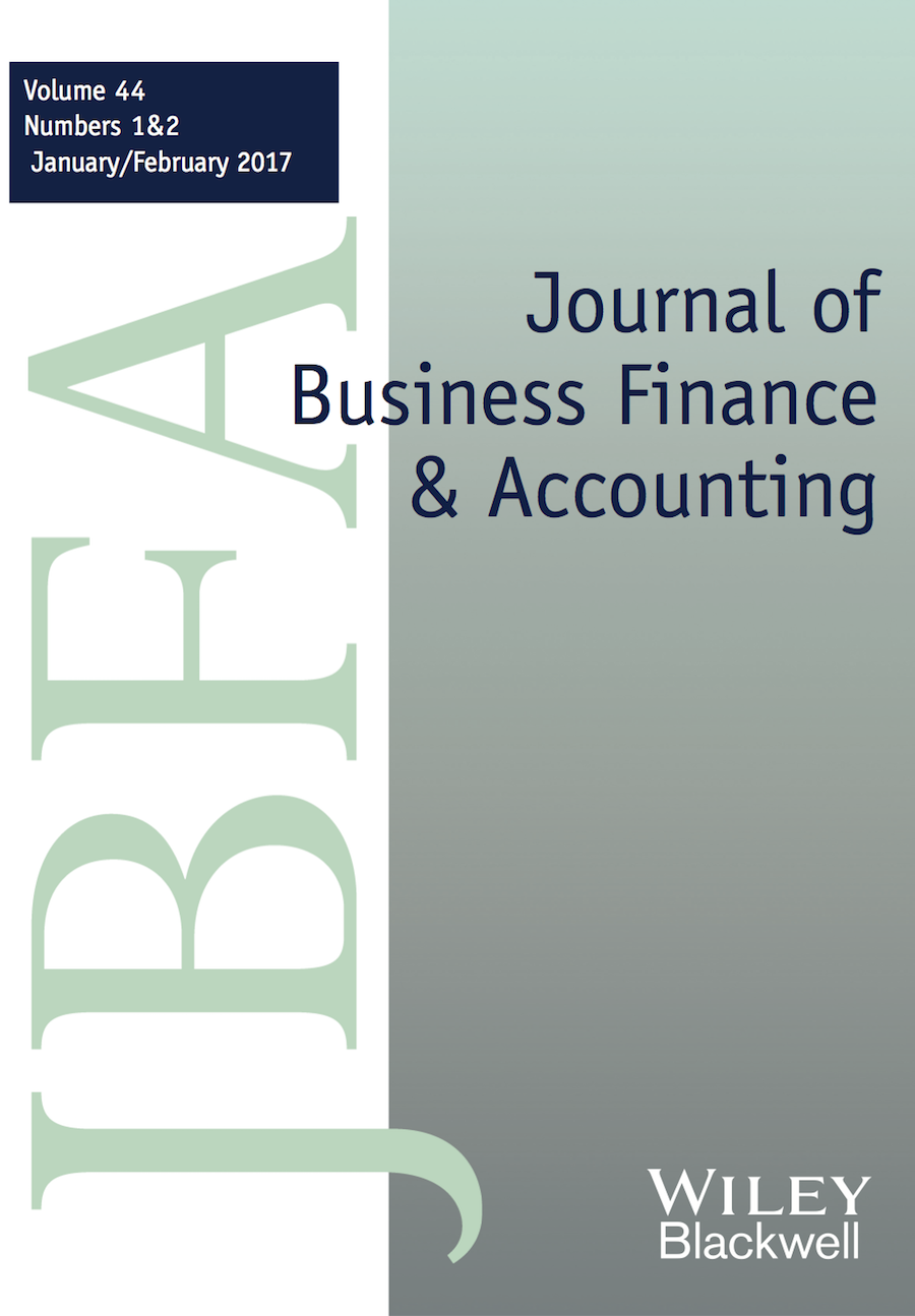 Journal of Business Finance & Accounting template (Wiley)