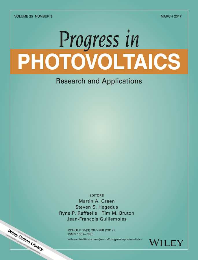 Progress in Photovoltaics: Research and Applications template (Wiley)