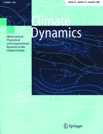 Climate Dynamics template (Springer)