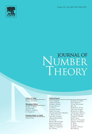 Journal of Number Theory template (Elsevier)