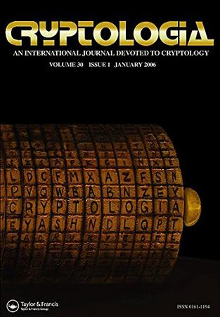 Cryptologia template (Taylor and Francis)