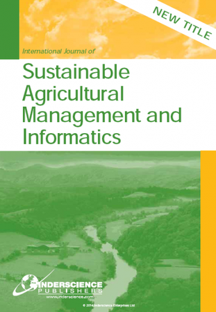 International Journal of Sustainable Agricultural Management and Informatics template (Inderscience Publishers)