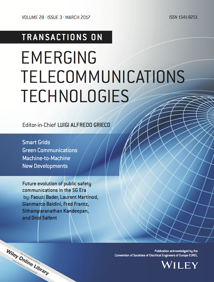 Transactions on Emerging Telecommunications Technologies template (Wiley)