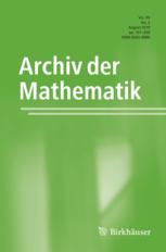 Archiv der Mathematik template (Springer)