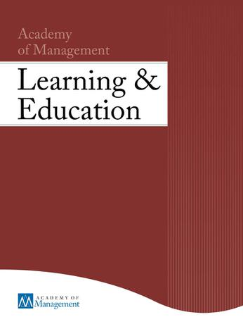 Academy of Management Learning and Education template (Academy of Management)