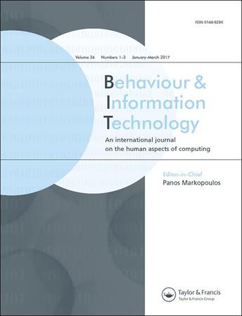 Behaviour and Information Technology template (Taylor and Francis)