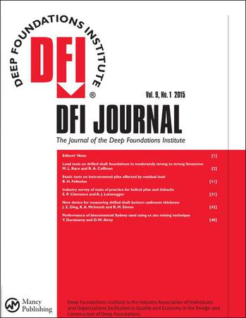 DFI Journal - The Journal of the Deep Foundations Institute template (Taylor and Francis)