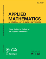 Applied Mathematics-A Journal of Chinese Universities template (Springer)