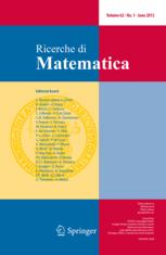 Ricerche di Matematica template (Springer)