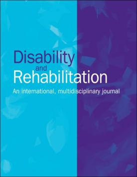 Disability and Rehabilitation template (Taylor and Francis)
