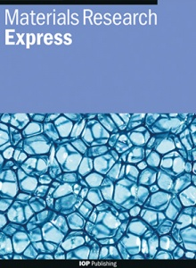 Materials Research Express template (IOP Publishing)