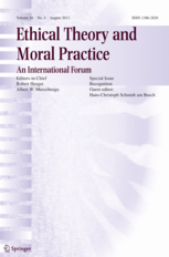 Ethical Theory and Moral Practice template (Springer)