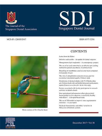 Singapore Dental Journal template (Elsevier)