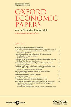 Oxford Economic Papers template (Oxford University Press)