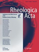 Rheologica Acta template (Springer)