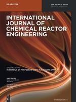 International Journal of Chemical Reactor Engineering template (De Gruyter)