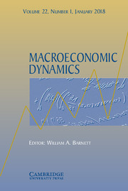 Macroeconomic Dynamics template (Cambridge University Press)