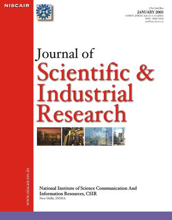 Journal of Scientific and Industrial Research (JSIR) template (NISCAIR Publications)