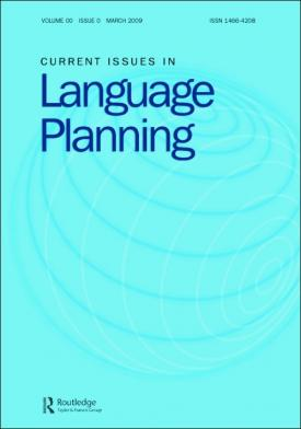 Current Issues in Language Planning template (Taylor and Francis)