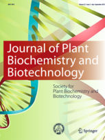 Journal of Plant Biochemistry and Biotechnology template (Springer)