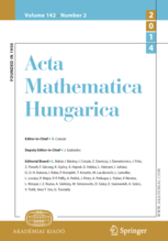 Acta Mathematica Hungarica template (Springer)