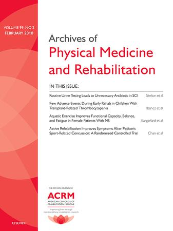 Archives of Physical Medicine and Rehabilitation template (Elsevier)