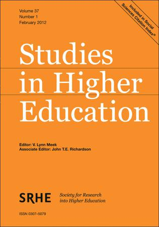 Studies in Higher Education template (Taylor and Francis)