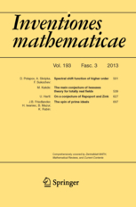Inventiones mathematicae template (Springer)