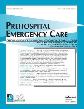 Prehospital Emergency Care template (Taylor and Francis)