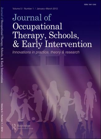 Journal of Occupational Therapy, Schools, and Early Intervention template ( Schools)