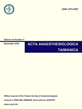 Acta Anaesthesiologica Taiwanica template (Elsevier)