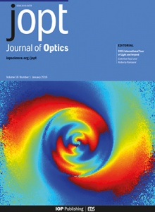 Journal of Optics template (IOP Publishing)