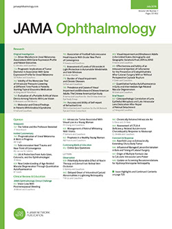 JAMA Ophthalmology template (American Medical Association)