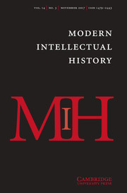 Modern Intellectual History template (Cambridge University Press)