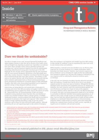 Drug and Therapeutics Bulletin template (BMJ Publishing Group)