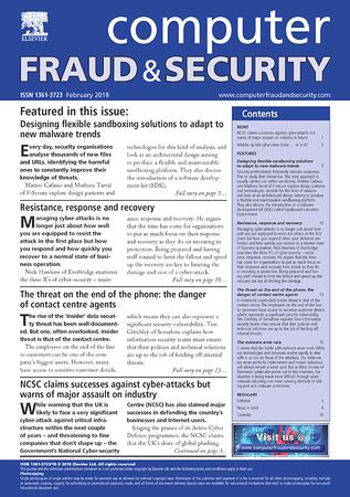 Computer Fraud & Security template (Elsevier)