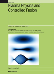 Plasma Physics and Controlled Fusion template (IOP Publishing)